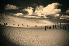 Rest on the dunes Stock Images