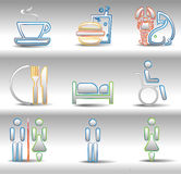 Rest and entertainments icons Stock Images