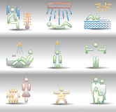 Rest and entertainments icons Stock Photo
