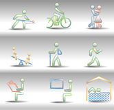 Rest and entertainments icons Royalty Free Stock Photography