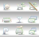Rest and entertainments icons Stock Photography
