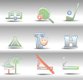 Rest and entertainments icons Stock Image