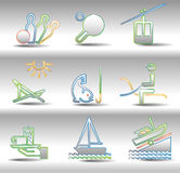 Rest and entertainments icons Royalty Free Stock Photos