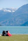rest för lake för kugghjulharrison fotvandrare Arkivbild