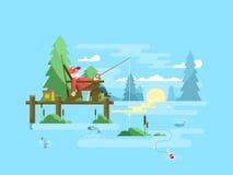 Rest fishing design Royalty Free Stock Image