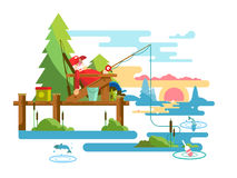 Rest fishing design Royalty Free Stock Photography