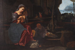 Rest on the Flight into Egypt Stock Image