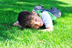 Rest in grass Royalty Free Stock Images