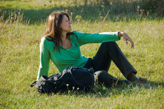 Rest on the grass Stock Image