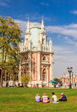 Rest on the grass. Museum-Reserve Tsaritsyno Stock Photography