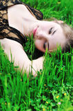 Rest on the green grass Stock Photography