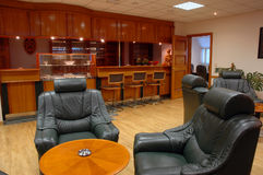 Rest hall with bar. Place where it is possible to have a rest and drink Stock Photos