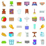 Rest house icons set, cartoon style. Rest house icons set. Cartoon style of 36 rest house vector icons for web isolated on white background Royalty Free Stock Photo