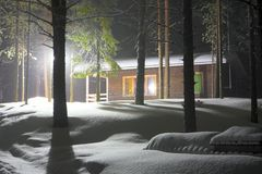 Rest house in Lapland. Stock Photo