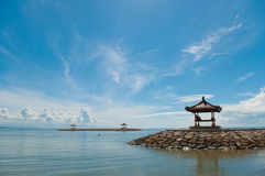 Rest-houses at sanur beach Stock Images