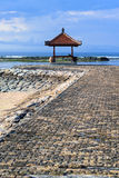 Rest-houses at sanur beach on bali-indonezia Stock Photos