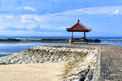 Rest-houses at sanur beach on bali-indonezia Stock Image