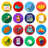 Rest, hygiene, entertainment and other web icon in flat style.grapes, trekking horse icons in set collection. Stock Photos