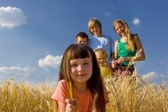 Rest im Getreide lizenzfreies stockfoto