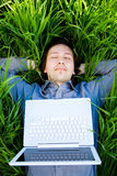 Rest with laptop Stock Photography