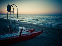 Rest of the lifeguard Royalty Free Stock Photography