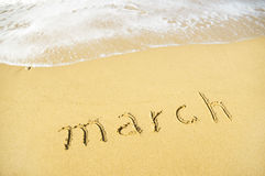 Rest in March Royalty Free Stock Images