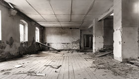 The rest of the movie room,. Old soviet barrack detail, the abandoned rest of the movie room Stock Image