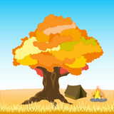 Rest on nature by autumn Royalty Free Stock Photography