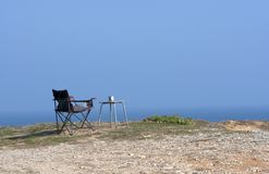 Rest on the ocean. Relaxation on the ocean in Peniche, Portugal stock photos