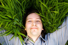 Rest On The Grass Stock Photography