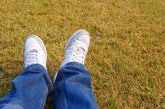 Rest på gräset Royaltyfria Foton
