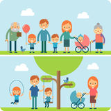 Rest in the park flat vector illustration Royalty Free Stock Image