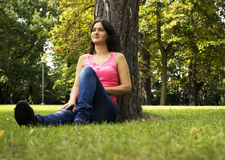Rest at a park Stock Images