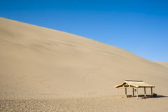 A rest pavilion under the Sand dunes Royalty Free Stock Photo