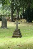 Rest in Peace. Nice light as Autumn leaves begin to fall in a Cementary rural England Stock Photo