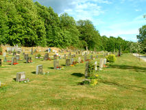 Rest in Peace. A graveyard in the country in Norway stock photo