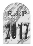 Rest In Peace 2017 Gravestone Royalty Free Stock Photography