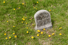 Rest in peace inscription on a headstone Royalty Free Stock Images