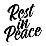 Rest in peace. Text for Respect for the funeral vector eps 10 design vector illustration