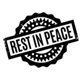 Rest In Peace rubber stamp. Grunge design with dust scratches. Effects can be easily removed for a clean, crisp look. Color is easily changed Royalty Free Stock Photo