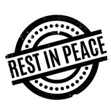 Rest In Peace rubber stamp. Grunge design with dust scratches. Effects can be easily removed for a clean, crisp look. Color is easily changed Royalty Free Stock Photos