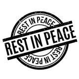 Rest In Peace rubber stamp. Grunge design with dust scratches. Effects can be easily removed for a clean, crisp look. Color is easily changed Royalty Free Stock Photography
