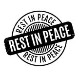 Rest In Peace rubber stamp. Grunge design with dust scratches. Effects can be easily removed for a clean, crisp look. Color is easily changed Stock Photo