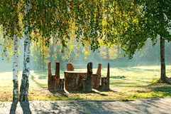 Rest place in the park Royalty Free Stock Photography