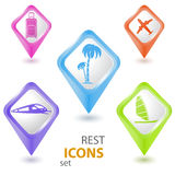 Rest pointers set. Eps10 illustration Royalty Free Stock Photography