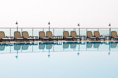 Rest at pool. Royalty Free Stock Photo