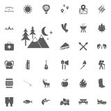 Rest. Recreation. Forest icon. Camping and outdoor recreation icons set. Rest. Recreation. Forest icon. Camping and outdoor recreation icons set Stock Photography