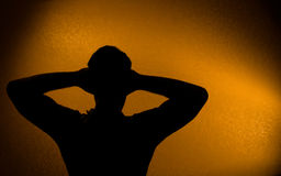 Rest and relax - silhouette of man Stock Photo