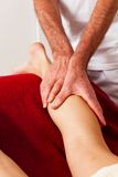 Rest and relaxation through massage. Relaxation, peace and well-being through massage. Lymphatic drainage Royalty Free Stock Images