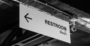Rest room sign Royalty Free Stock Image